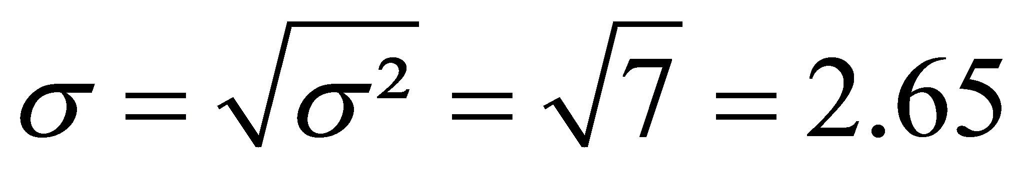 Varianz Symbol